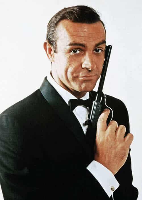 Photo of James Bond hairstyle.