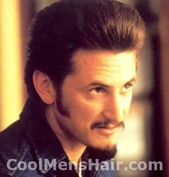 Sean Penn pompadour hairstyle photo.
