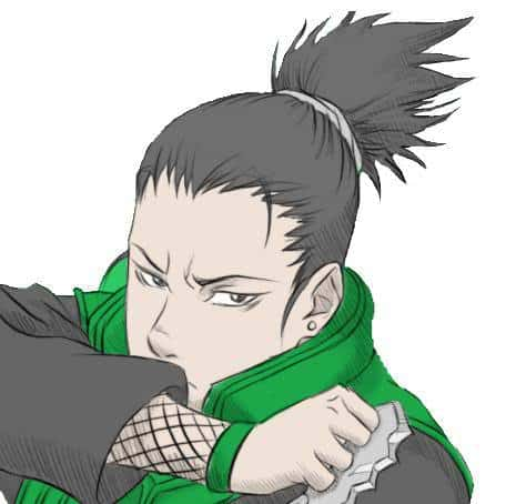 Photo of Shikamaru hairstyle.