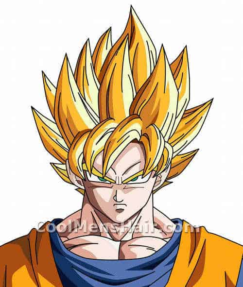 Picture Of Son Goku Blonde Liberty Spikes Hairstyle