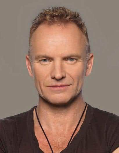 Sting short hairstyle