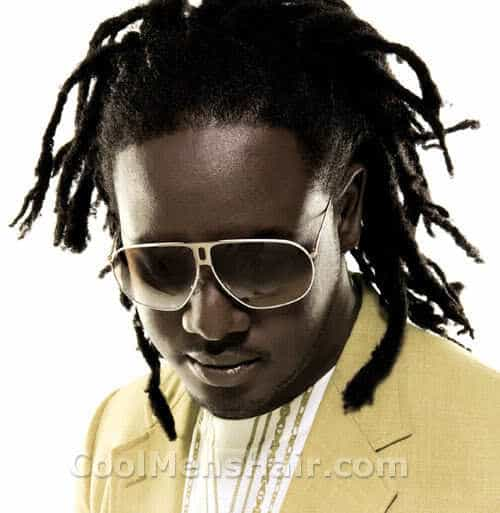 Photo of T-Pain Dreadlock hairstyle.