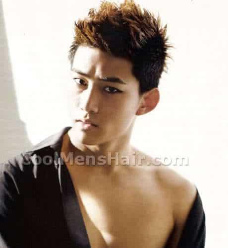 Taec Yeon spiky hair style.