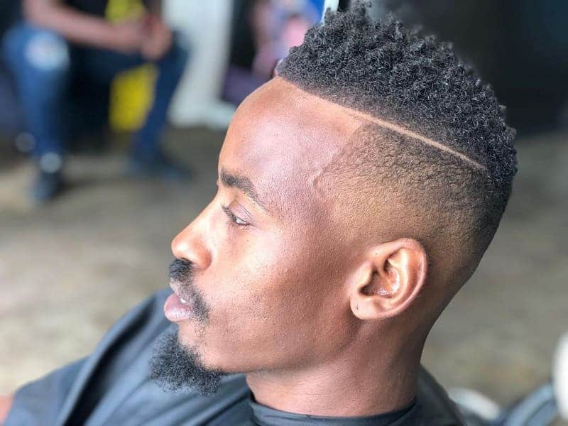 Temp Fade With Parts and Curls
