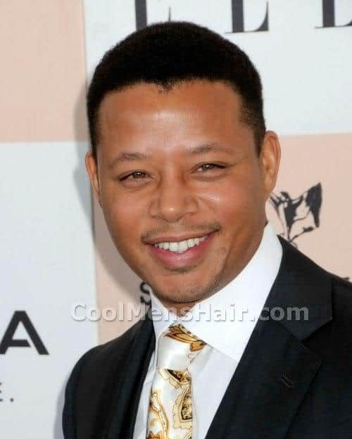 Picture of Terrence Howard short hairstyle.