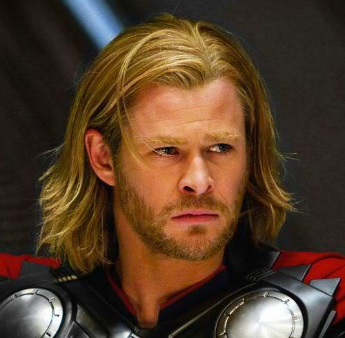 Picture of Thor medium length hairstyle for men.