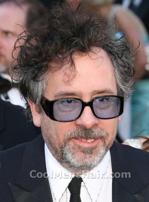 Photo of Tim Burton curly hairstyle.