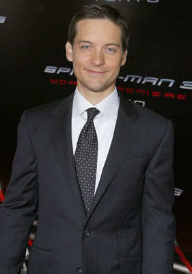 Tobey Maguire hairdo at Premiere of Spider-man 3.