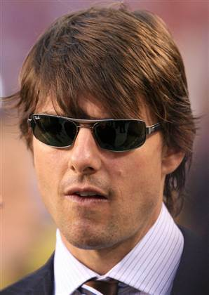 Tom Cruise full bangs.