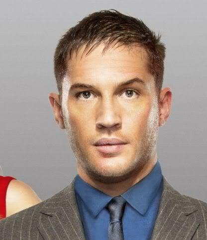 Photo of Tom Hardy crop hairstyle.