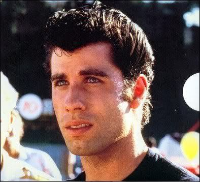 Photo of John Travolta greaser hairstyle.