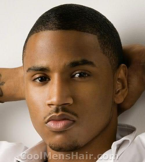 Picture of Trey Songz buzz cut hairstyle.