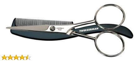 Tweezerman His Moustache Scissors with Comb