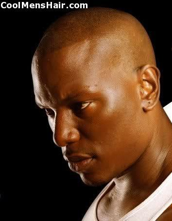 Picture of Tyrese Gibson cool bald head.