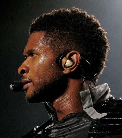 Usher short afro.