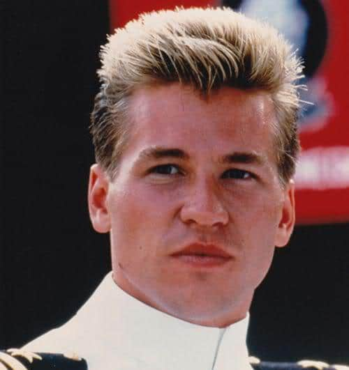 Photo of Val Kilmer military flattop hairstyle.
