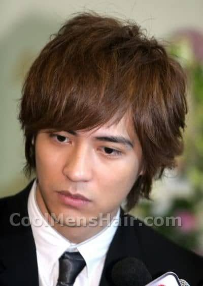 Vic Zhou brown hair.
