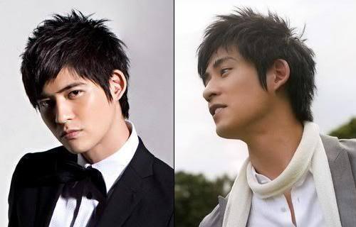 Vic Zhou spiky hairdo.