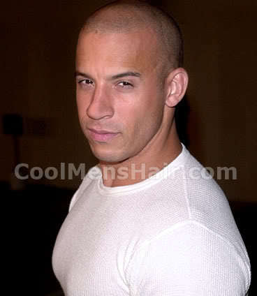 Photo of Vin Diesel shaved head.