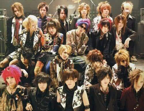 Visual Kei bands hairstyles photos.