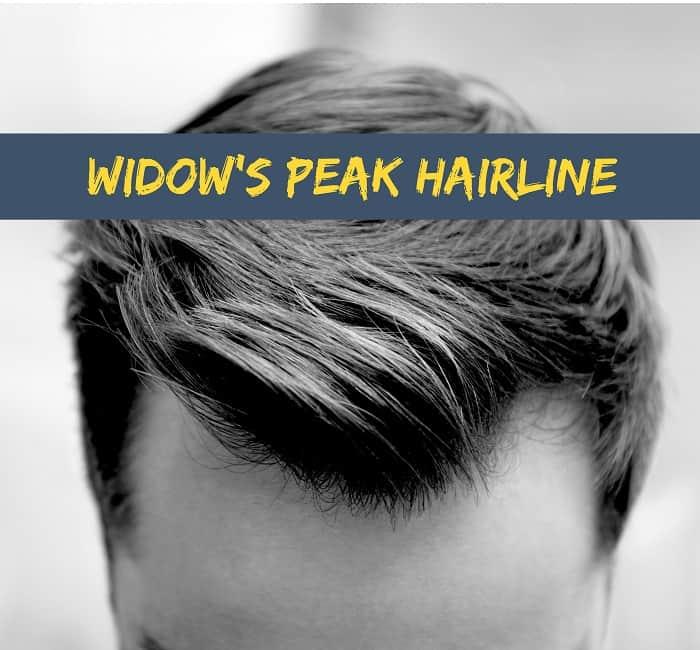 La línea del cabello de la viuda
