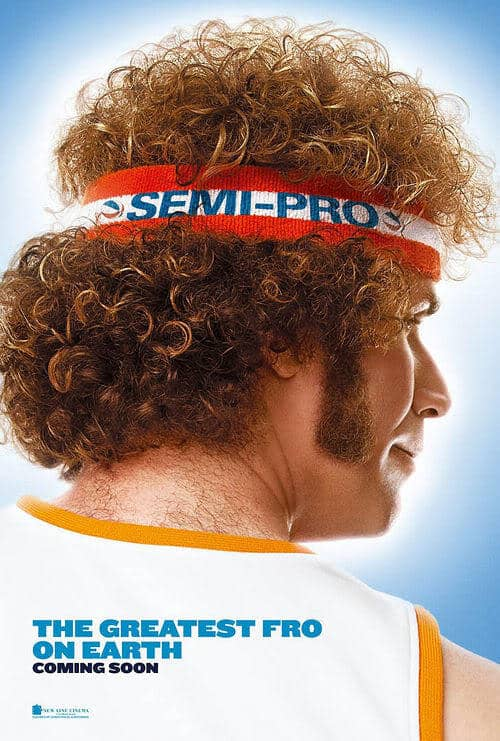 Image of Will Ferrell hairstyle in the movie Semi Pro.