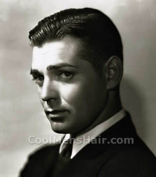 Photo of William Clark Gable hairstyle.