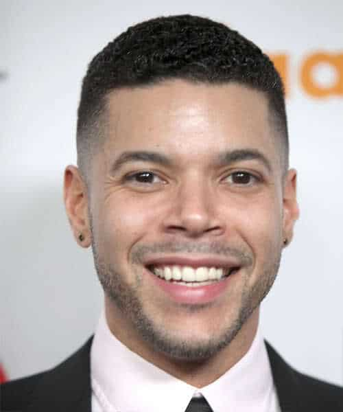 Photo of Wilson Cruz crew cut hairstyle.