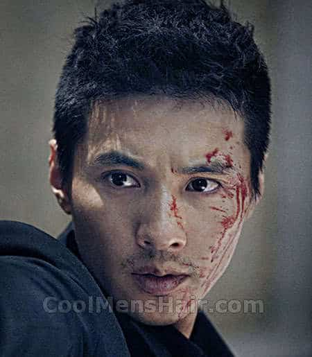 Photo of Won Bin hairstyle in The Man From Nowhere.