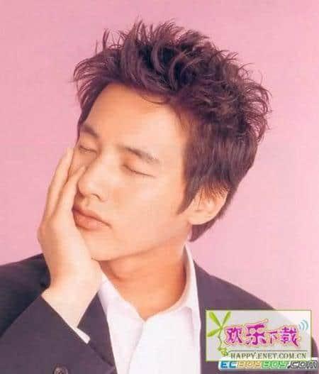 Photo of Won Bin hairstyle.