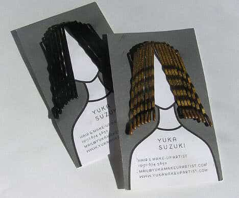 Yuka Suzuki hair artist business card.