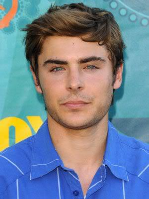Photo of Zac Efron hairstyle.