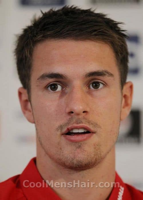 Photo of Aaron Ramsey hairstyle.