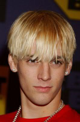 Bowl cut hairstyle from Aaron Carter.