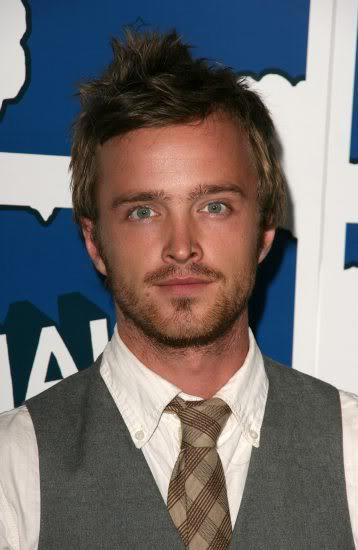 Aaron Paul short messy hairstyle
