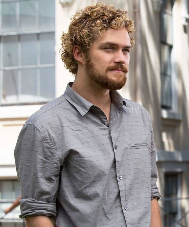 Actor with Curly Blonde Hair