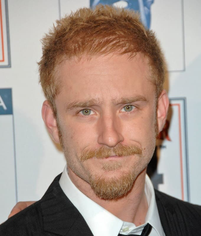 actor with red spiky hair - Ben Foster