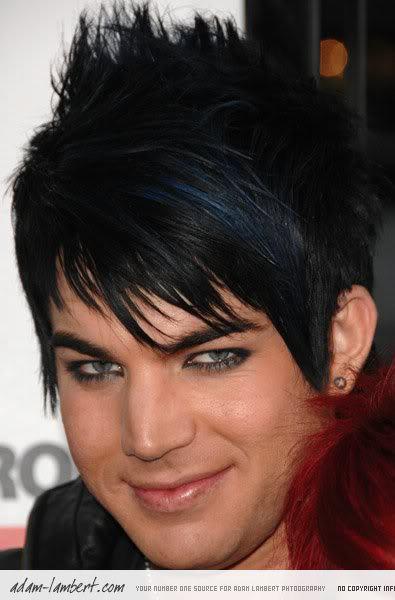 Adam Lambert emo hairstyle