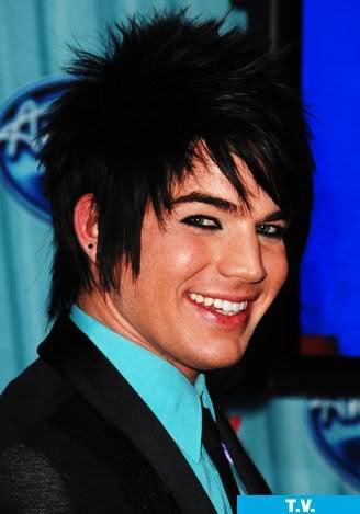 Adam Lambert emo hairdo