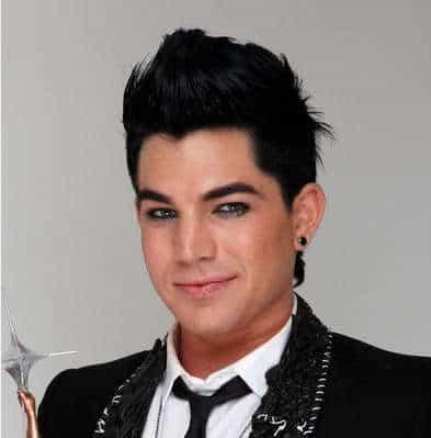 Adam Lambert's pompadour style