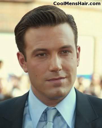 Photo of Ben Affleck conservative hairstyle.