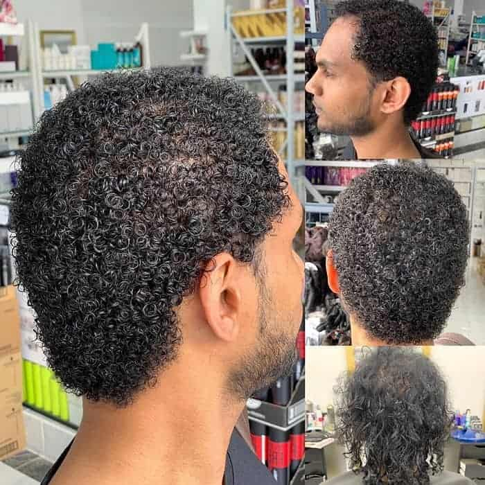 Permed Afro Hair for Men