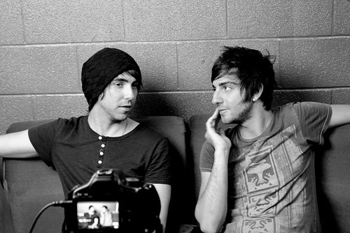 Photo of Jack Barakat with with Alex Gaskarth.