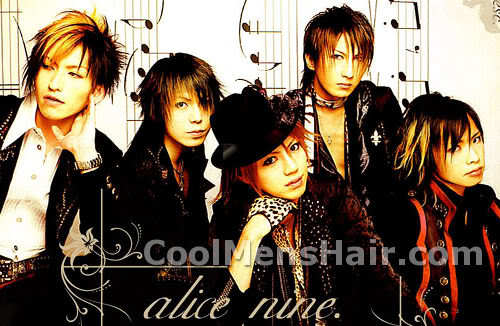 Picture of Alice Nine hairstyles for men and boys.