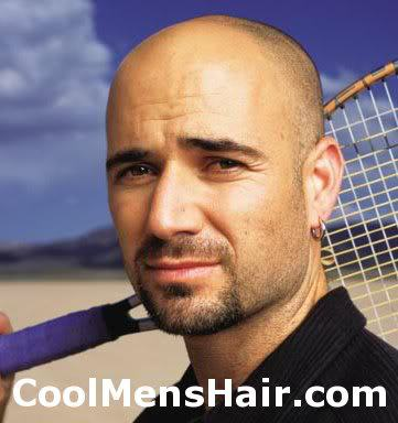 Andre Agassi bald style