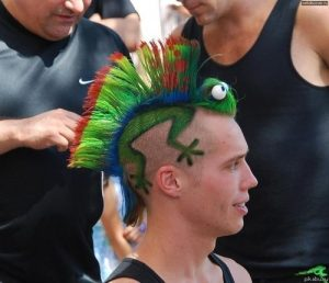 men rainbow hairstyle