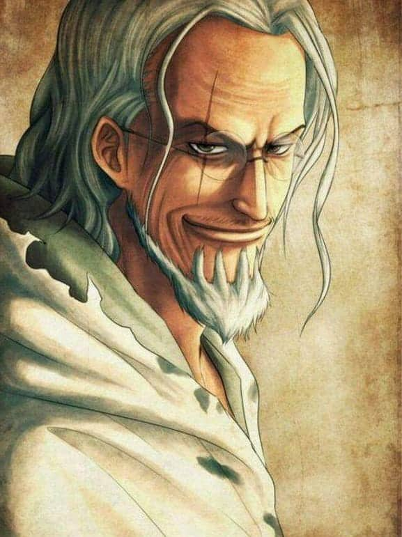 anime guy with long white hair