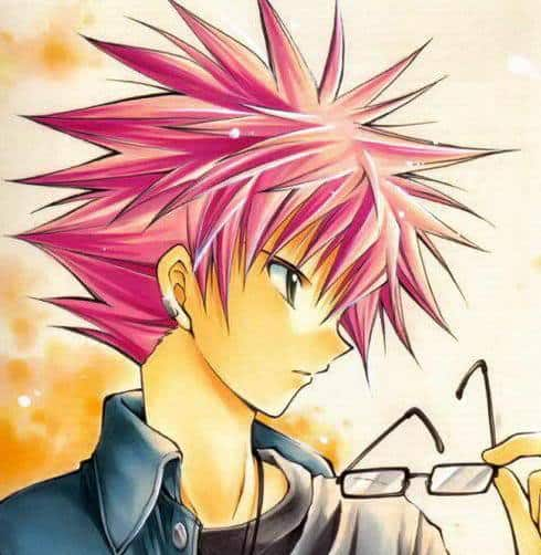 Photo of anime guy with spiky hair.