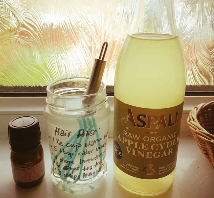 apple cider vinegar rinse for Hair fall