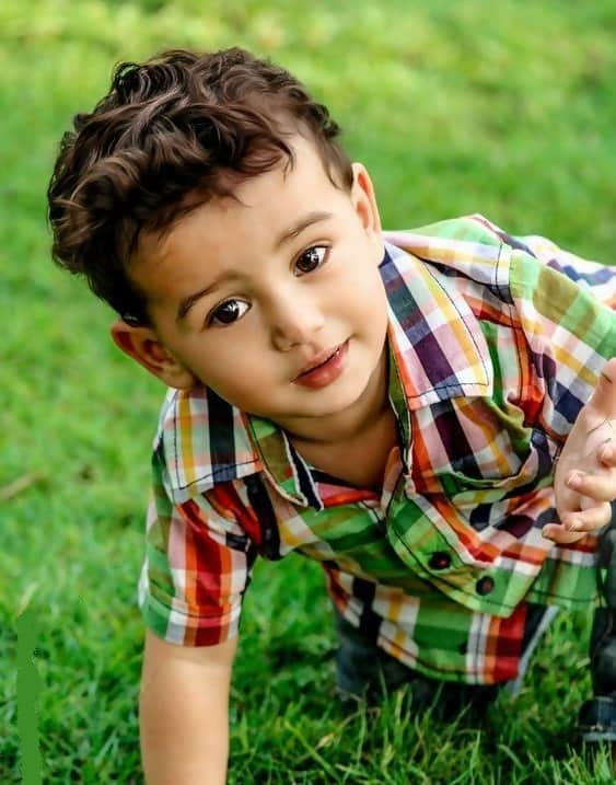 curly hairstyle for baby boys